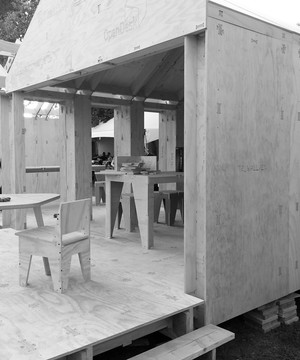 A WikiHouse under construction