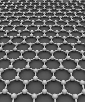 Graphene model - a crystalline structure in a hexagonal grid