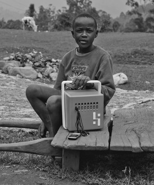A young boy with a BuffaloGrid