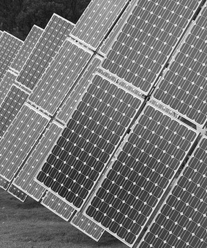 Image of solar panels in a field