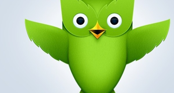 Duolingo's recognisable green bird logo