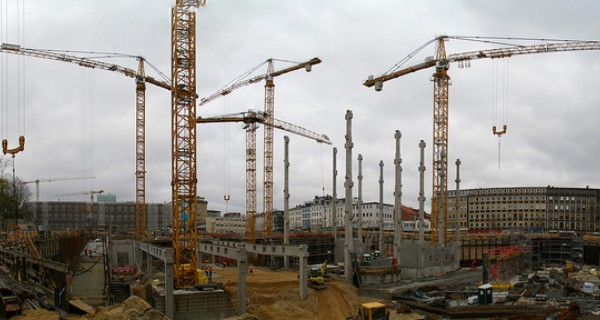 Image of a large building site
