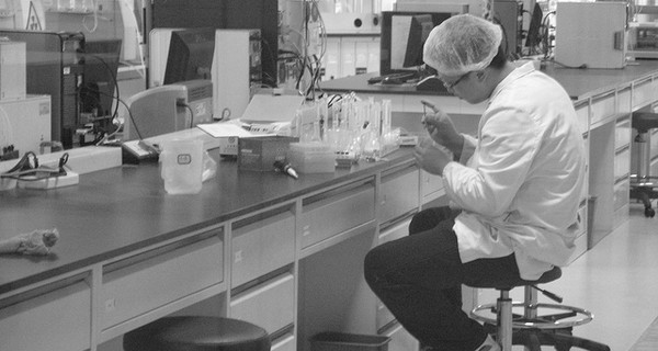A chinese scientist working in a laboratory
