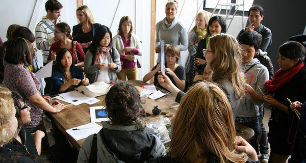 A group of people at a creative workshop