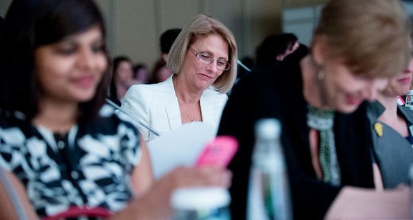 Business women at Dell's women's entrepreneur network in Istanbul