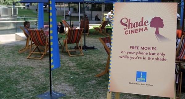 Deckchair with Shade Cinema branding on display at Shade Cinema event in Brisbane